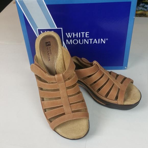 b4162d295932 White Mountain Lthr Sandals Top Pick NIB 8.5M